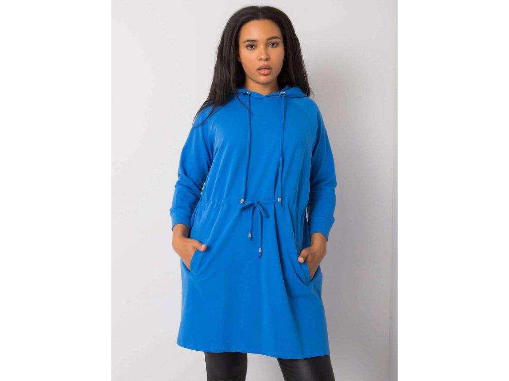 pol pl Ciemnoniebieska bluza plus size z kapturem Norina 374080 2