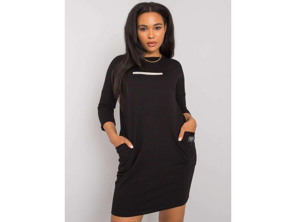 pol pl Czarna sukienka plus size z kieszeniami Sereia 374112 1