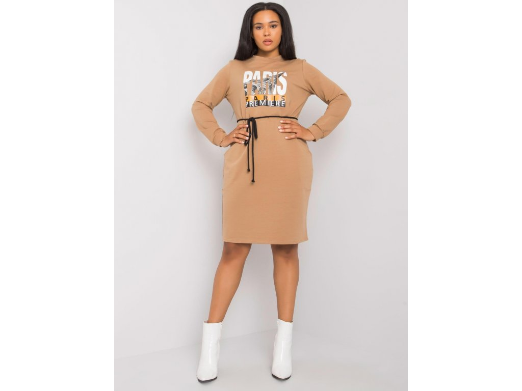 pol pl Camelowa sukienka bawelniana plus size Lareen 372742 3
