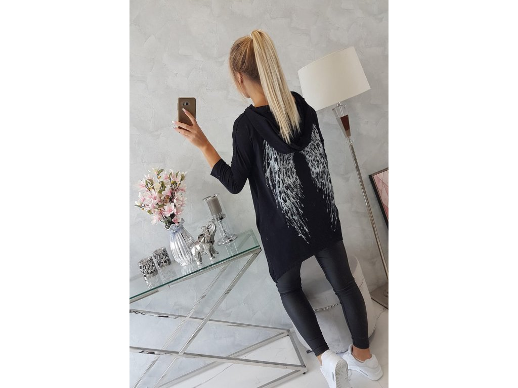 eng pl Sweatshirt with a print of wings black 18457 7