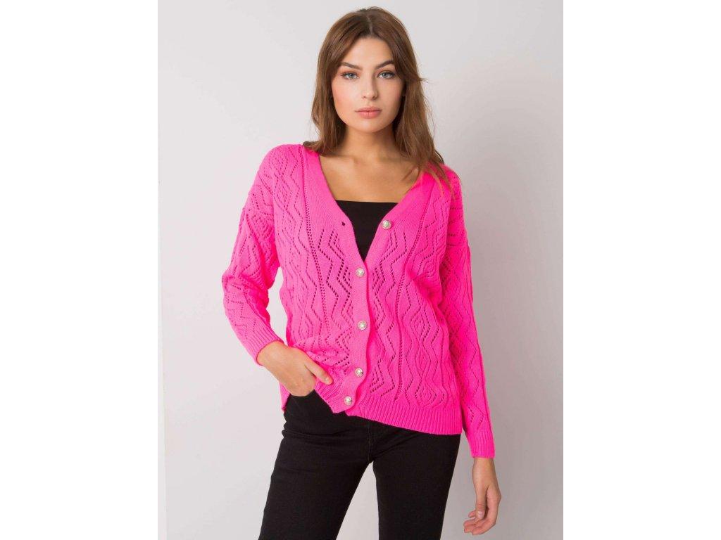 pol pl Fluo rozowy sweter na guziki Gregoire RUE PARIS 377303 1