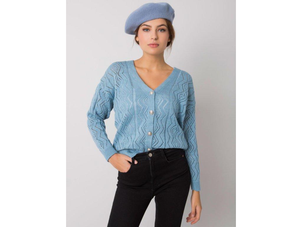 pol pl Niebieski sweter na guziki Gregoire RUE PARIS 377302 1