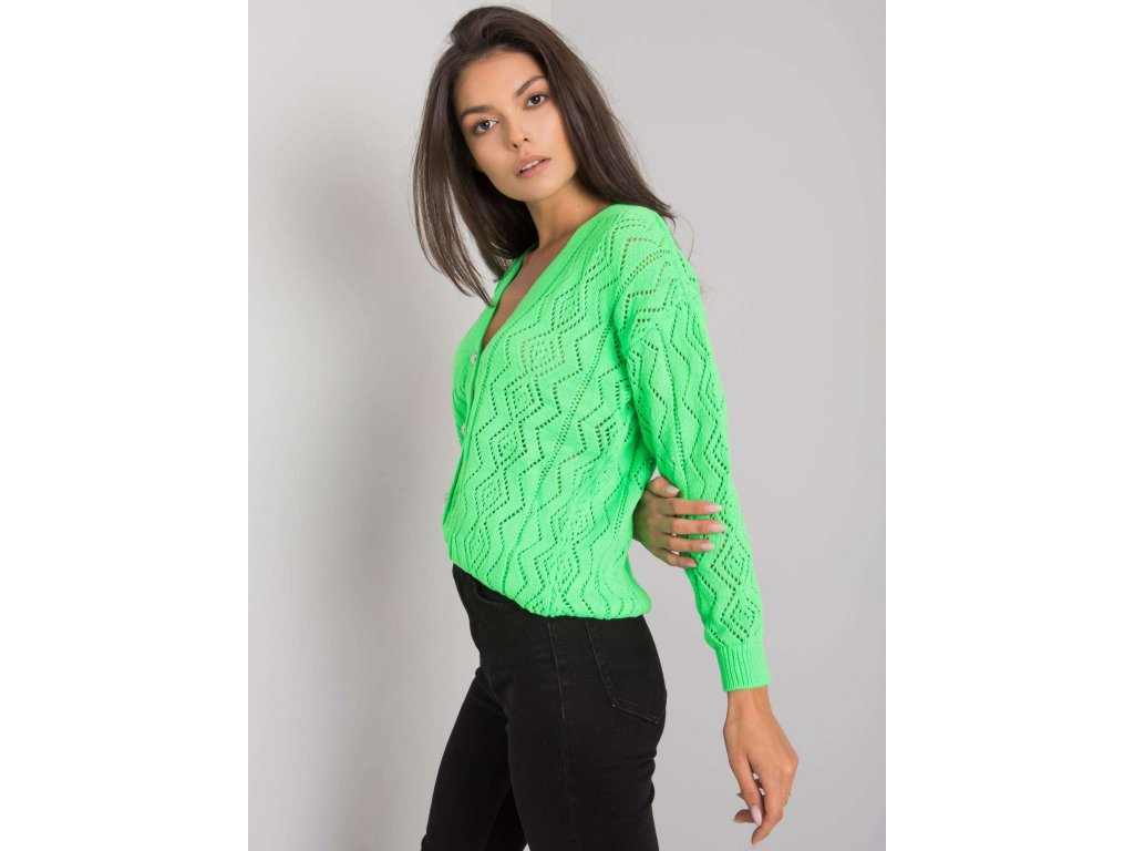 pol pl Fluo zielony sweter na guziki Gregoire RUE PARIS 377291 4