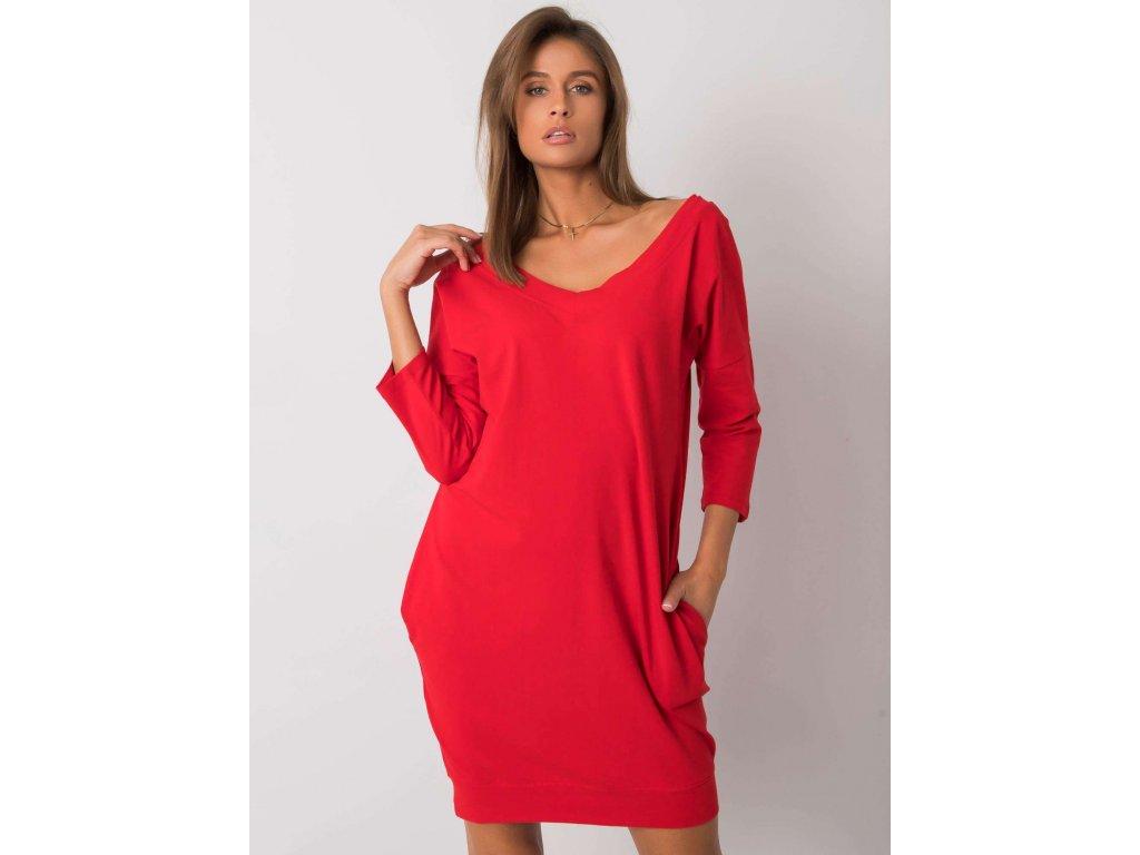pol pl Czerwona sukienka z bawelny Abijah 377626 2