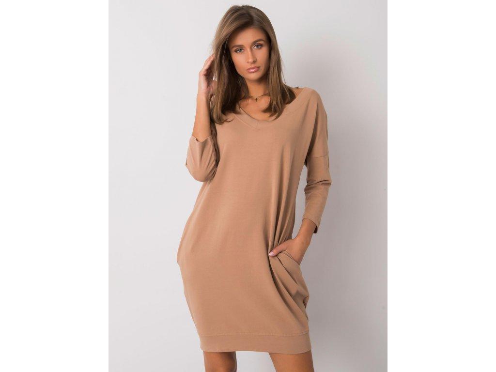 pol pl Camelowa sukienka z bawelny Abijah 377625 1