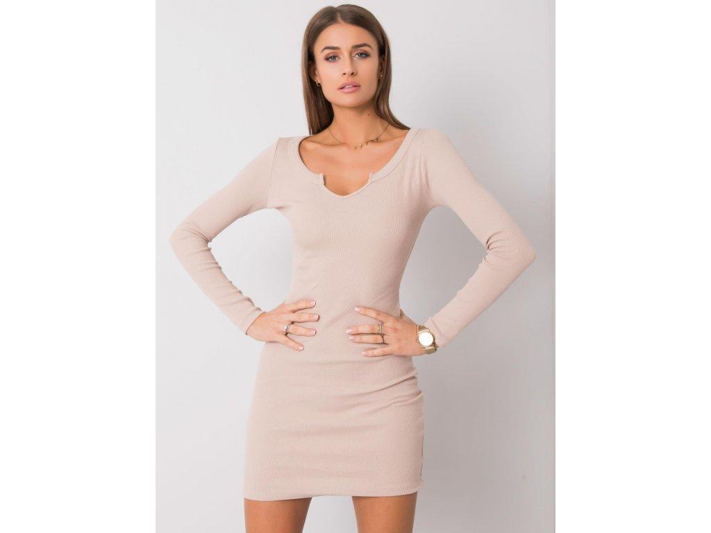 pol pl Bezowa sukienka Frely RUE PARIS 357017 2
