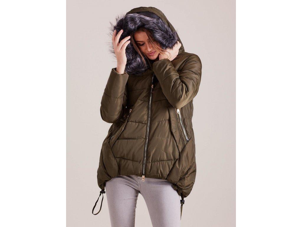 pol pl Khaki asymetryczna kurtka zimowa 299565 5