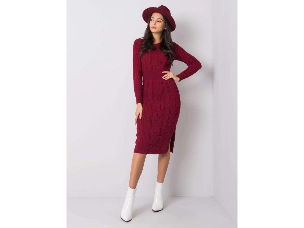 pol pl Bordowa sukienka Sobelle RUE PARIS 356481 2