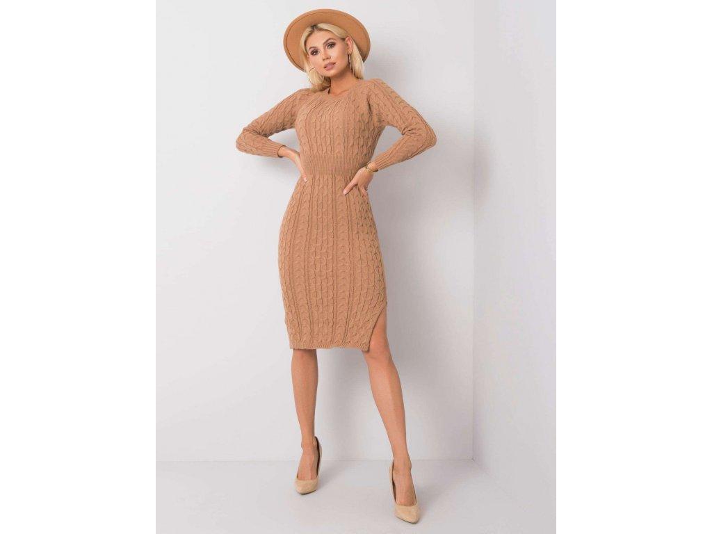 pol pl Ciemnobezowa sukienka Sobelle RUE PARIS 356482 2