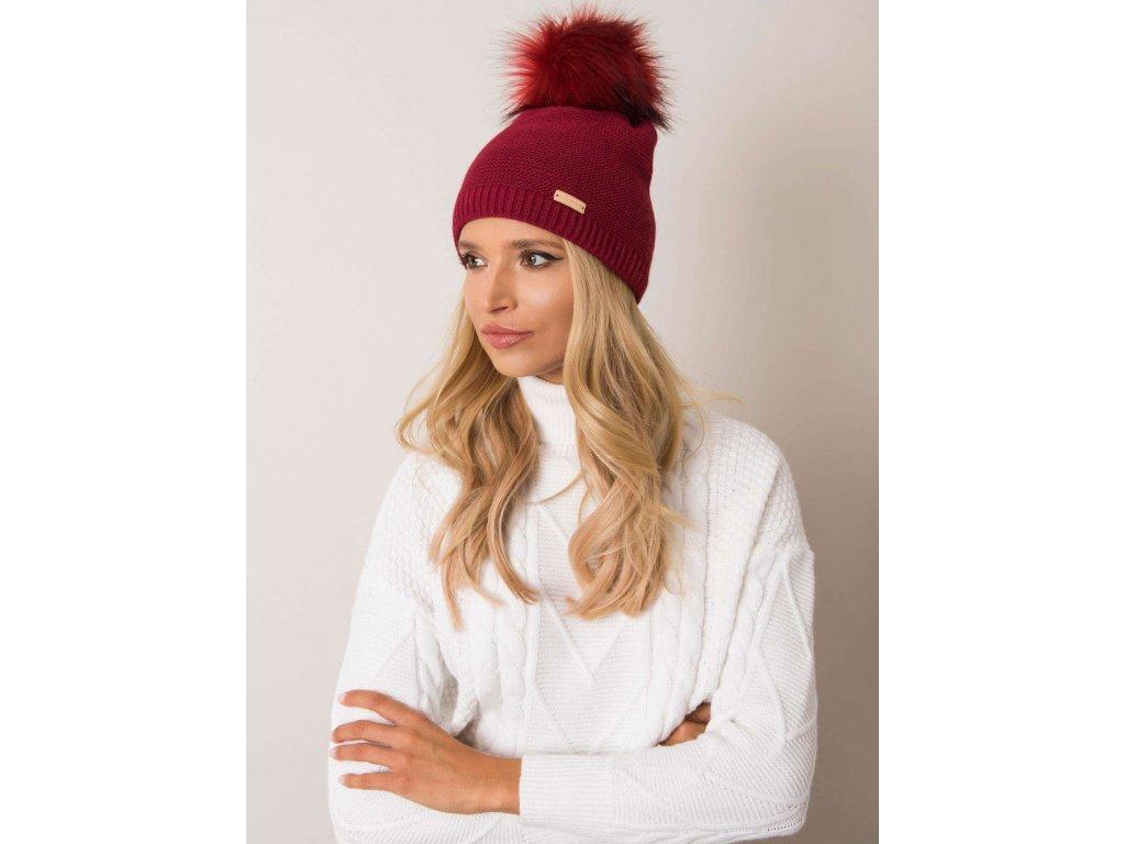 pol pl Bordowa czapka zimowa RUE PARIS 354361 1