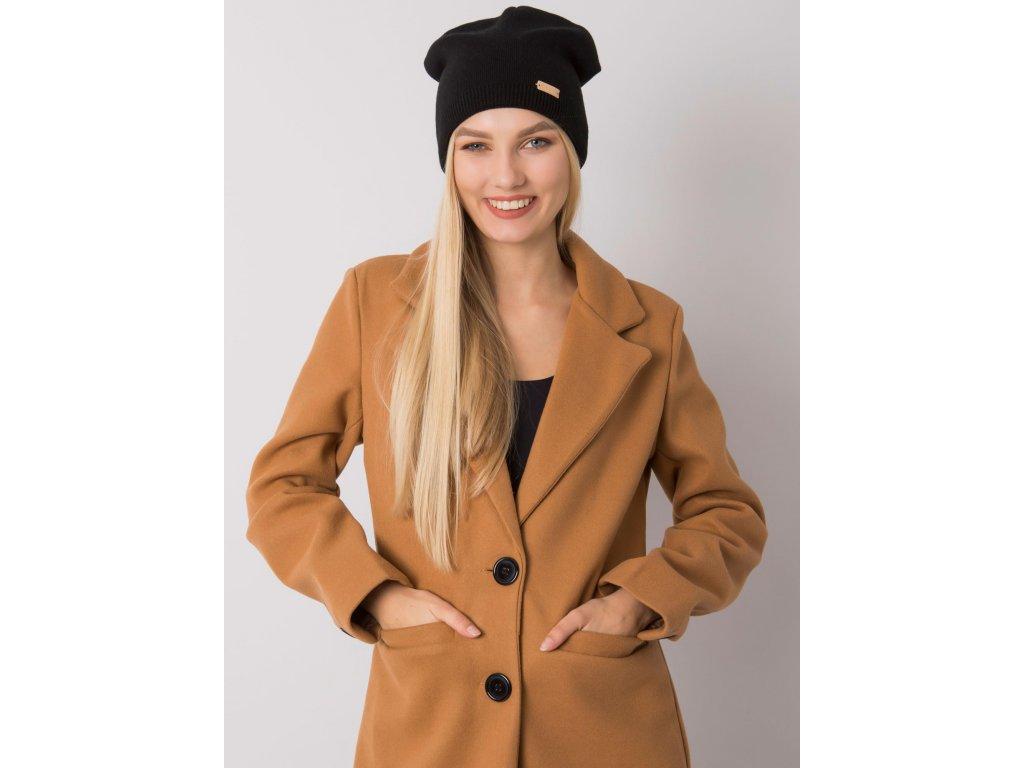 pol pl Czarna czapka typu beanie RUE PARIS 379061 1