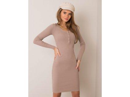 pol pl Ciemnobezowa sukienka Mercy RUE PARIS 354806 2