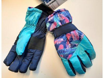 nepromokavé lyžařské rukavice- prstové vel. 10-15 let