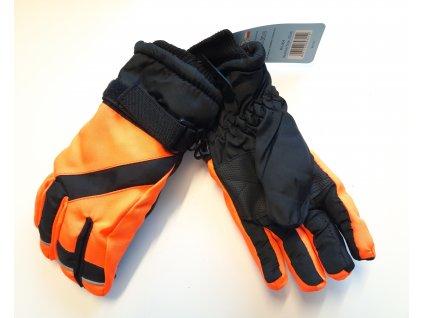 nepromokavé lyžařské rukavice- prstové vel. 4-6 let