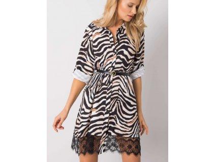 pol pl Bezowo czarna sukienka Cloude 356006 5