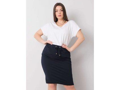 pol pl Granatowa spodnica plus size Thandie 360626 1