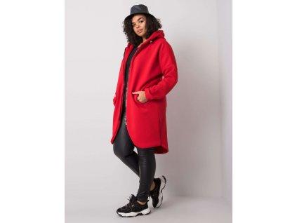 pol pl Czerwona bluza z kapturem plus size Nellie 360608 1