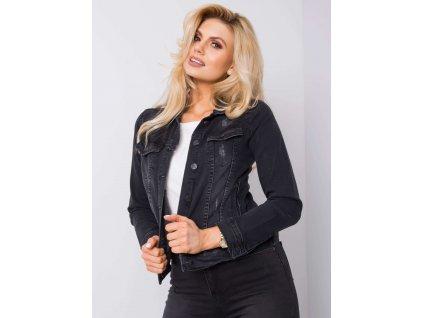 pol pl Czarna kurtka jeansowa Risa RUE PARIS 362127 1