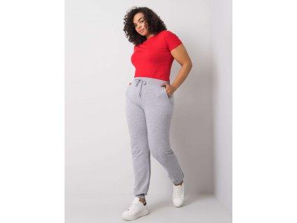pol pl Szare melanzowe spodnie dresowe plus size Beatriz 360629 1