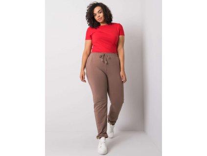 pol pl Ciemnobezowe spodnie dresowe plus size Beatriz 360620 1