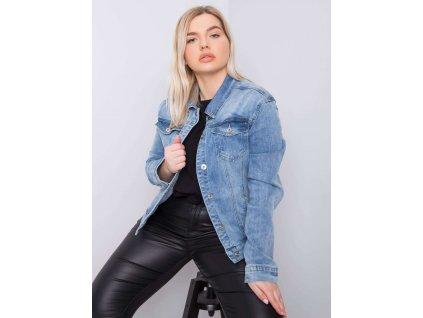 pol pl Niebieska kurtka jeansowa plus size Kristi 363442 1