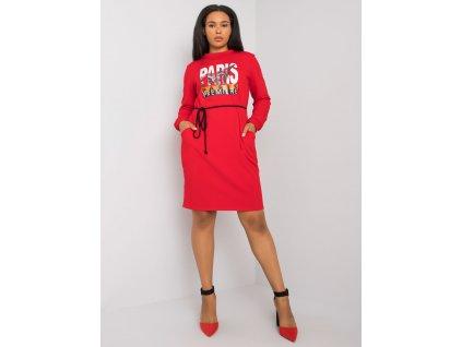pol pl Czerwona sukienka bawelniana plus size Lareen 372679 3