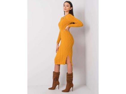 pol pl Musztardowa sukienka Sobelle RUE PARIS 356483 3