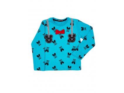 pol pl Turkusowa bawelniana bluzka dziecieca z nadrukiem Myszki Mickey 264535 3