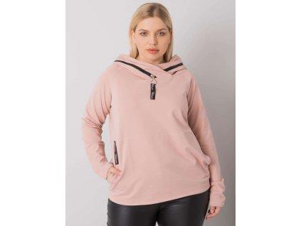 pol pl Brudnorozowa bluza z kapturem plus size Akeiyla 379292 1