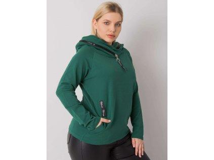 pol pl Zielona bluza z kapturem plus size Akeiyla 379261 1