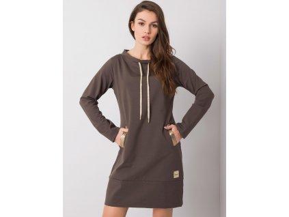 pol pl Ciemna khaki sukienka Holly 358941 2
