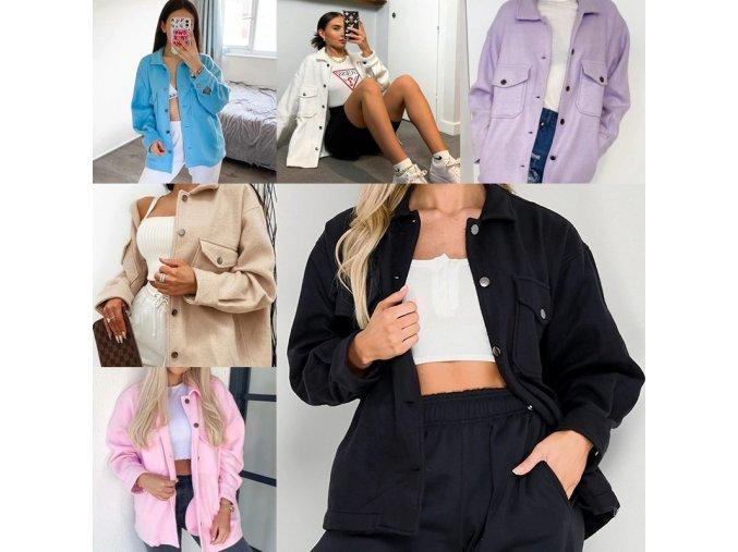 NEW - dámská módní lehká zimní bunda s kapsami ve více barvách