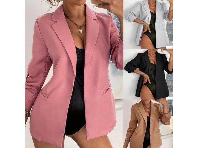 NEW - Dámské pohodlné sako s kapsami