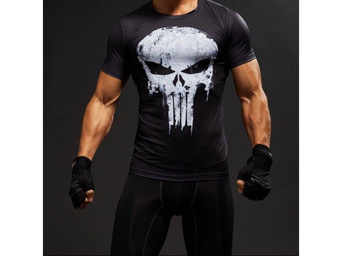 Pánské tričko s lebkou