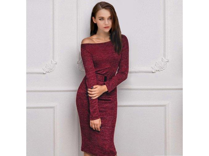 Nádherné dámské šaty s páskem