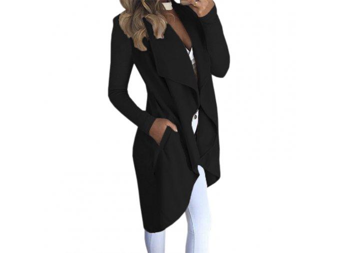2017 Woman Solid Long Sleeve Casual Coat Turn down Collar Pocket Autumn Winter Women Jackets Open