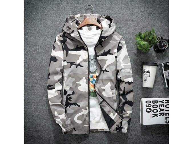 Pánská podzimní bunda camouflage