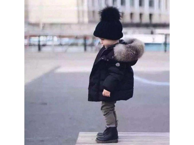 Chlapecká zimní bunda s kožíškem