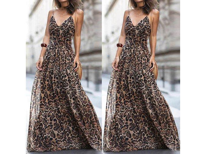 Lehké šaty s leopardím vzorem