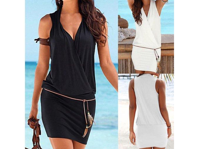 Jednobarevné šaty- ideální k moři