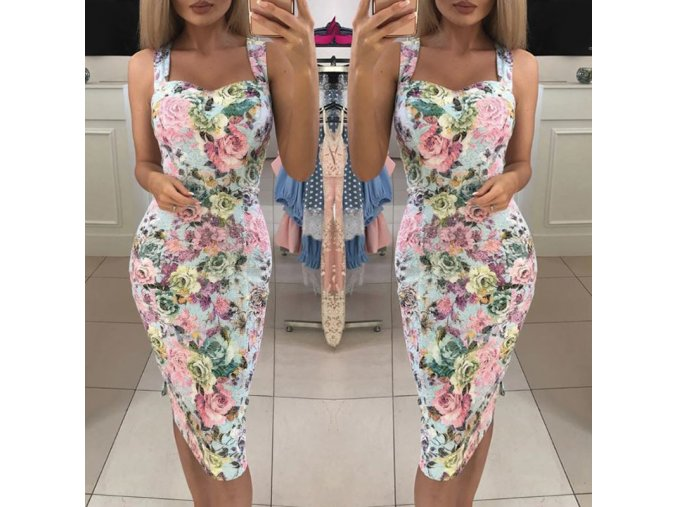 Dlouhé romantické šaty s květy