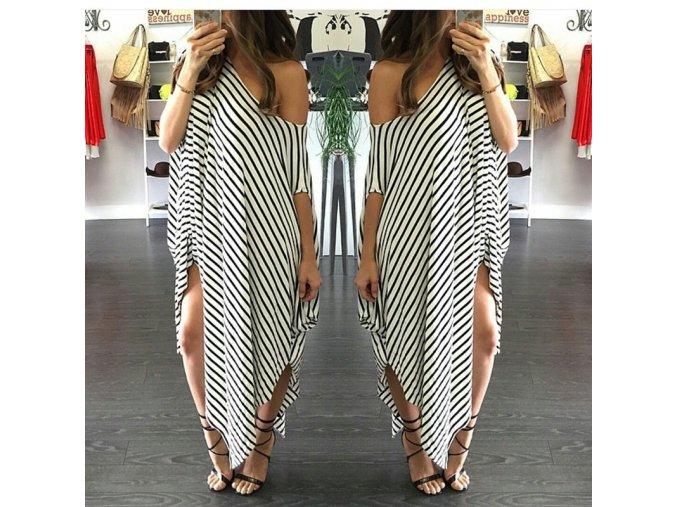 Stylové asymetrické letní šaty