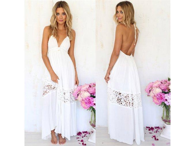 Romantické bílé šaty na svatbu