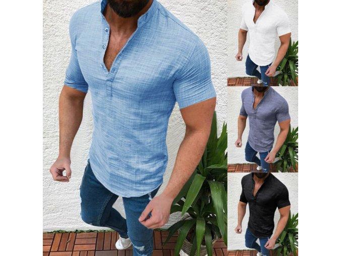 Pánská vzdušná letní košile - až 2XL