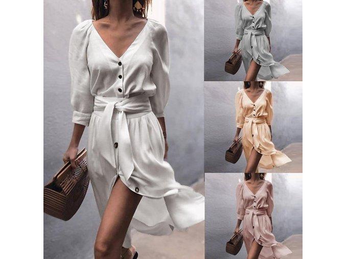 Letní pavučinkové elegantní šaty