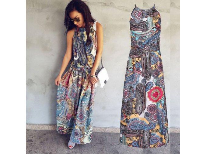 Dámské dlouhé šaty s ornamenty