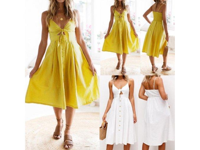 Letní šaty s knoflíky HIT léta 2019