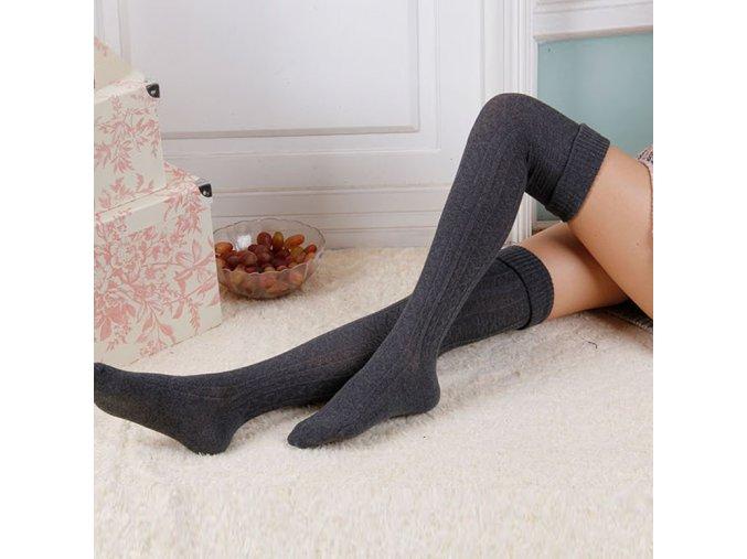 Zimní dámské pletené punčochy