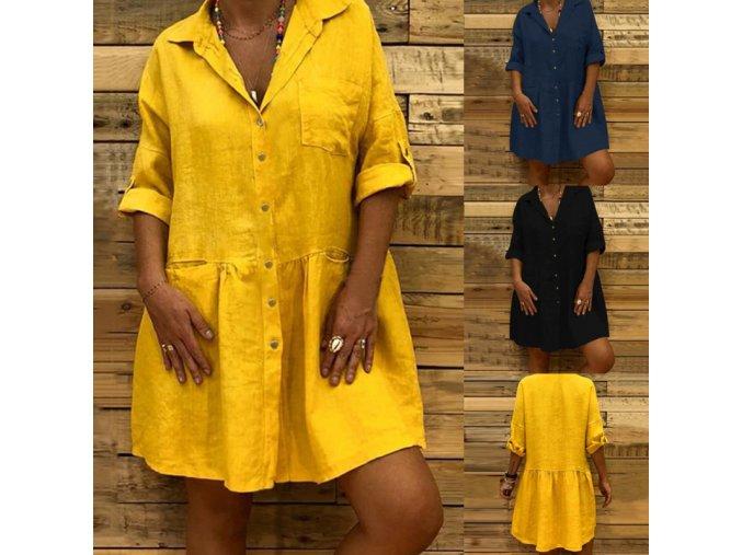 Letní košilové oversize šaty
