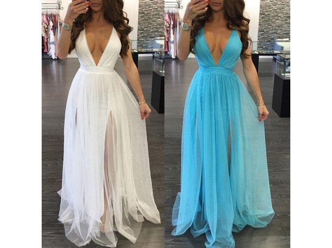 Odvážné plesové šaty - 2 barvy
